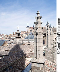 Detail of the Cathedral of Toledo - Architectural Detail of...