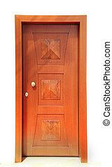 Front door - Contemporary wooden home entry front door