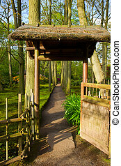 gate to japanese garden