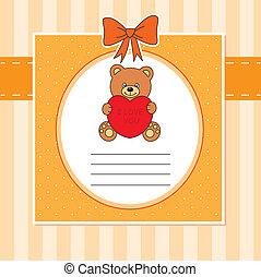 Child card. bear