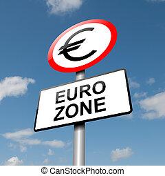 Euro zone concept.