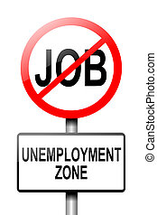 Unemployment concept. - Illustration depicting a road...