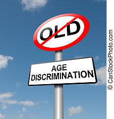 idade, discriminação, conceito