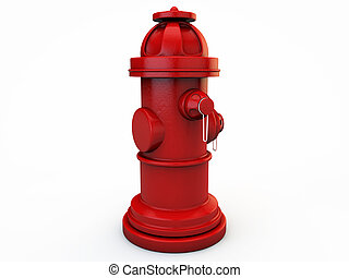 hydrant isolated on white background