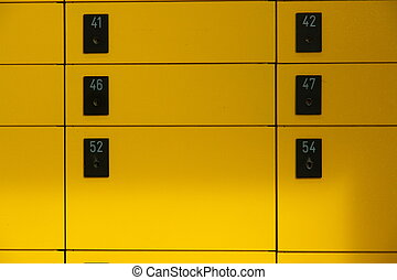 Lockbox - yellow lockboxes