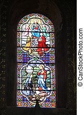 Stained glass in a French church - Stained glass in a church...