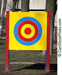 Archery target outdoor