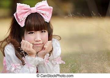 asian lolita portrait - japanese woman in sweet lolita...