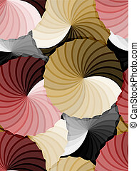 Abstract rosette gradient background - Beautiful seamless...