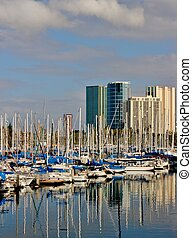 Sailboats in the harbor 2