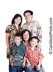 Loving Indonesian Family - Indonesian Family, three...