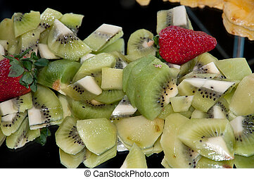 Close up of salad fruit - Buffet with fruit salad in an...