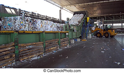 Paper and pulp mill - Waste paper recycling. This paper mill...