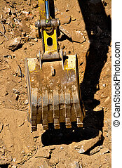 Excavator - Continuing the work of a bulldozer on site...