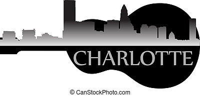 Charlotte g - City of Charlotte high-rise buildings skyline...