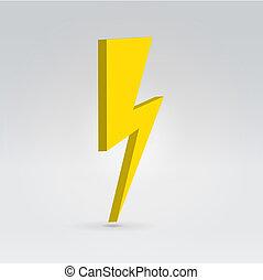 Lightning symbol - Lightning minimalistic symbol hanging in...