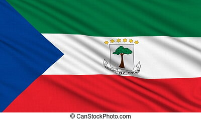 Equatorial Guinea Flag. - Equatorial Guinea Flag, with real...