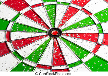 hit red and green bullseye dart board target game - old red...