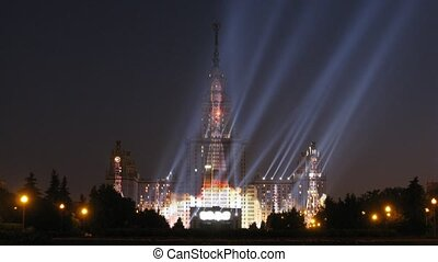 Rehearsal of alpha show of Alpha-bank, on Moscow State...