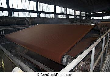 papel, Pulpa, molino, -, fábrica, planta