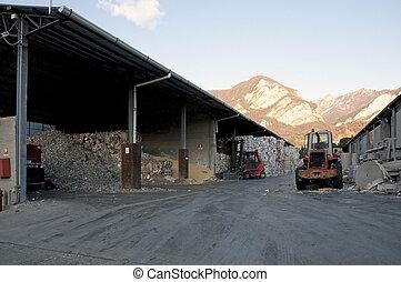 papel, Pulpa, molino, planta, -, papel, reciclaje