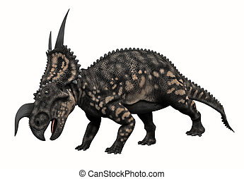 Horned Dinosaur - 3D render of a Horned Dinosaur