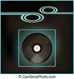 Music Flyer - Background illustration of a vintage...