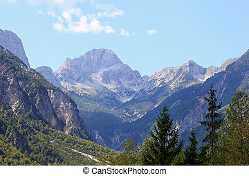 Julian Alps - View of Julian Alps in the Slovenian...