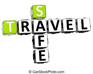 3D Safe Travel Crossword