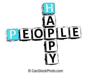 3D Happy People Crossword