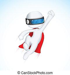 3d Superhero in Vactor