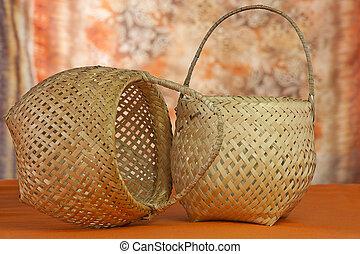 mimbre, cestas