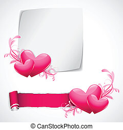 Love Template - illustration of glossy heart on love...