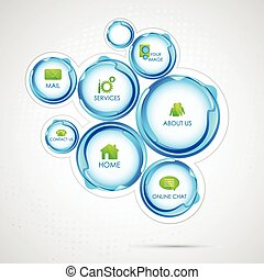Web Design Bubble - illustration of colorful web design...