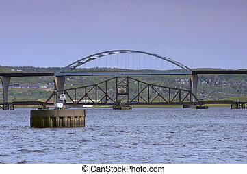 Bridges Spanning Lake Superior in Duluth Superior - Richard...