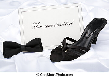 Formal wear party invitation - Invitation card with high...