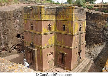 Church in Ethiopia - An orthodox church in Lalibela, in...