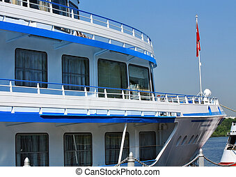 Bow of the river passenger liner