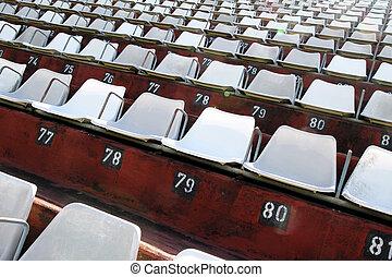 Empty tribune - A empty tribune in Buenos aires. HDRI photo....
