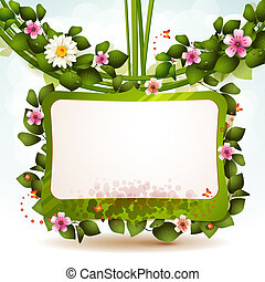 Mirror with flowers