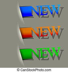 Vector new label set. Eps10 illustration