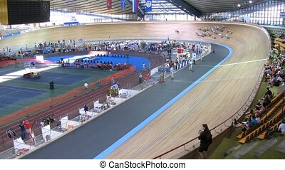 Competitions in Sports complex on Youthful superiority of world on cycling on a track