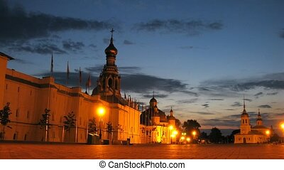 Old Archbishops court in Vologda, time lapse - Old...