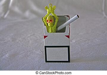 um cigarro uma caveira - campanha fumar mata, com um...