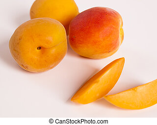 Apricot - The apricot fruit is a drupe similar to a small...