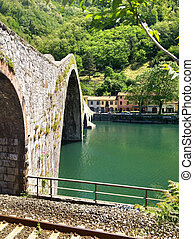 Devils Bridge, Countryside of Italy - Devils Bridge,...