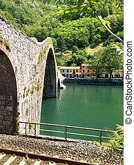 diablos, Puente, campo, Italia