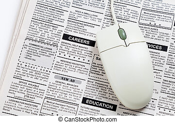 Career Ad - Fake Classified Ad, newspaper, job concept.