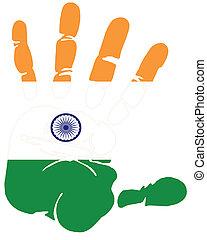bandeira,  Índia,  handprint