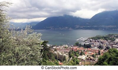 Panoramic views of Locarno Switzerland Europe